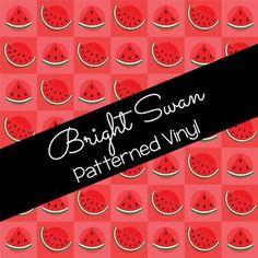 Patterned Vinyl & HTV - Watermelon - 10 Best Settings, Craft Cutter, Patterned Vinyl, Sheet Sizes, All Brands, Heat Transfer Vinyl, Adhesive Vinyl, Voss Bottle, Watermelon