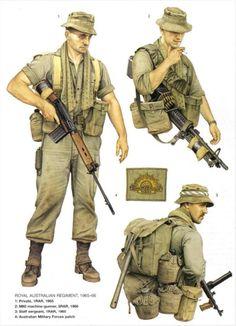 vietnam anzacs uniforms camo - Google Search Military Gear, Military History, Military Uniforms, Military Drawings, Vietnam War Photos, Military Insignia, Military Pictures, Army Uniform, Vietnam Veterans