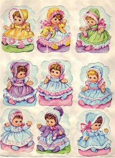 s Vintage Greeting Cards, Vintage Postcards, Vintage Pictures, Vintage Images, Decoupage, Vintage Birthday, Little Monkeys, Vintage Paper Dolls, Retro Toys