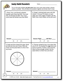 Download Free Problem Solving Worksheets From The Daily Math Puzzler