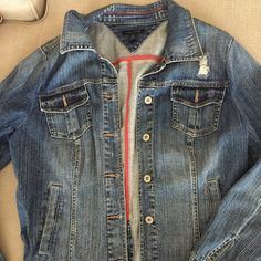 Tommy Jean jacket Excellent condition.    Like new.  Smoke free home. Tommy Hilfiger Jackets & Coats Jean Jackets