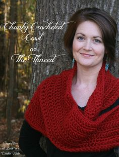 Free pattern for the  Long Chunky Crocheted Infinty Cowl or The Thneed