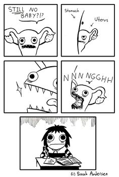 Sarah Anderson - pretty much Funny Cute, Funny Shit, The Funny, Funny Memes, Hilarious, Funny Stuff, Cute Comics, Funny Comics, Sarah Andersen Comics