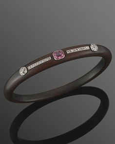 Boivin Art Deco ebony diamond and tourmaline bracelet - stacks