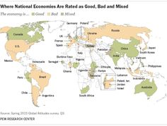 Where National Economies Are Rated as Good, Bad and Mixed