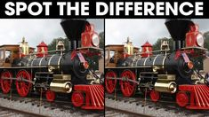 Get ready for difficult spot the difference picture puzzle for adults! Try to find the differences in this challenging puzzle with TRAINS and LOCOMOTIV. Locomotive, Puzzles, Trains, Entertaining, Youtube, Puzzle, Locs, Jigsaw Puzzles, Funny