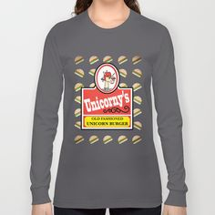 Unicorny's Burger Long Sleeve T-shirts