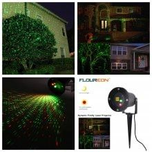 Floureon Outdoor Red Green Auto Dynamic Firefly Laser Projector Laser Lawn Light Built In Light Sensor Ip65 Waterproof For Patio Lawn Garden Landscap Lawn Lights Stage Lighting Light Sensor