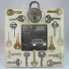 SOLD Key to the Lock Mosaic Frame
