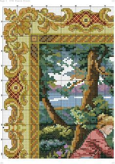 Zz Cross Stitching, Cross Stitch Embroidery, Sewing Stitches, Stitch 2, Cross Stitch Flowers, Diy Pillows, Vintage Wool, Persian Rug, Stitch Patterns