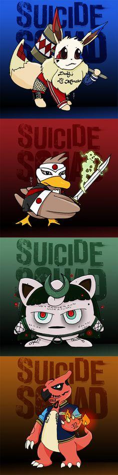 Pokemon Suicide Squad Part 2 Part 1: http://pokemonmeme.com/image/196/pokemon-suicide-squad-part-1 #suicidesquad #sausageparty