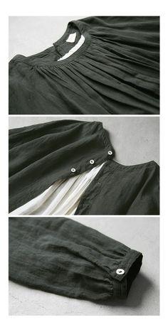 BerryStyle: Joie de Vivre 벨기에 린넨 와셔 인플레이션 숀 원피스 | 라쿠텐 일본 Vintage Apron Pattern, Aprons Vintage, Sewing Patterns Free, Free Pattern, Romantic Outfit, Mori Girl, Japan Fashion, Linen Dresses, Sewing Clothes