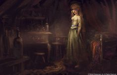 Tangled Concept Art and Character Art by Claire Keane. Rembrandt-style!
