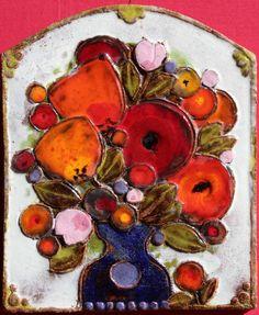 Wandbild Wandplatte, gebrannter Ton, Tonplatte, Keramik schwer