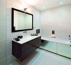 For the home refurbishment in Edinburgh, connect with DMR BUILDERS AND JOINERS. If you need our refurbishment services for your home, call us today at- 07872613924 Interior, Lighted Bathroom Mirror, Simple Bathroom Renovation, Apartment Bathroom, Bathroom Interior, Modern Bathroom, Bathroom Renovations, Interior Design, Bathroom Decor