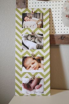 Cheap, quick, and cute picture frame/holder.