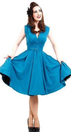 Heart of Haute Milan Dress in Blue   Blame Betty
