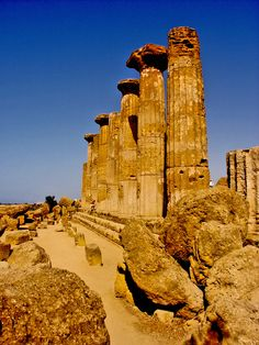 Temple Of Herakles, Sicily, Italy *