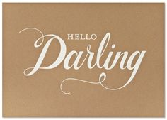 Sugar Paper Hello Darling Print $50.00 | Hattan Home  kraft paper, art, gallery wall,