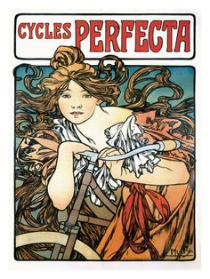 Cycles Perfecta  Giclee Print  by Alphonse Mucha.  My most favorite by him.