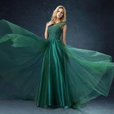 Azbro Women's Elegant Sleeveless Evening Bridesmaid Prom Mesh Dress