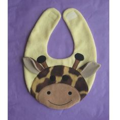 Giraffe baby bib excellent baby gift to have on hand, make with matching burp cloths for a set