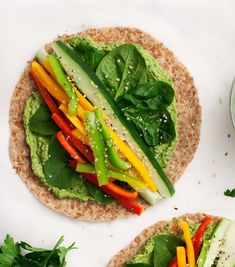Spinach Hummus Lunch Wraps are my go-to packed lunch for work, school, or travel! Filled with a fresh green hummus and crisp veggies, this healthy lunch is easily gluten-free and vegan. Wraps Vegan, Vegan Hummus Wrap, Healthy Lunch Wraps, Healthy Packed Lunches, Healthy Sandwiches, Healthy Eating, Vegetarian Sandwiches, Panini Sandwiches, Work Lunches