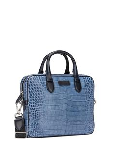 Etro HK WORK BAG IN CROCODILE EFFECT LEATHER | BuyDesire