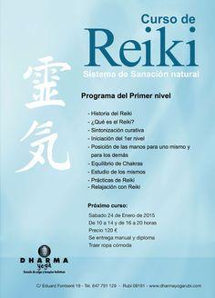 Próxima iniciación de Reiki de primer nivel.