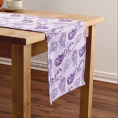 #elegant - #Lavender Feather Purple Feathers Elegant Short Table Runner