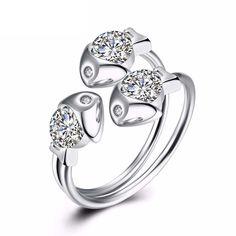 Reyceran Sterling Silver Rings Cubic Zirconia