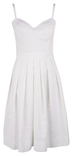 Perfect feminine white sundress with sweetheart neckline