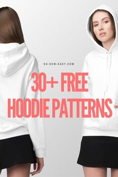 I want to share with you all the different hoodie designs I could find on the internet. There are quite a few so I'm linking the best 30+ Free hoodie designs below.