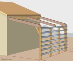 Amazing Shed Plans - How to Build a Strong and Sturdy Lean-to Roof More - Now You Can Build ANY Shed In A Weekend Even If You've Zero Woodworking Experience! Start building amazing sheds the easier way with a collection of shed plans! Storage Building Plans, Storage Shed Plans, Built In Storage, Diy Storage, Carport Plans, Pergola Plans, Pergola Ideas, Greenhouse Ideas, Cheap Greenhouse