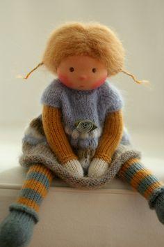 Waldorf Puppe Roberta gestrickt 13 von PeperudaKnittedDolls auf Etsy