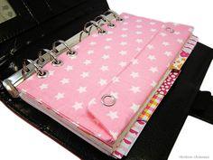 Weiteres - Filofax Personal Zubehör Tasche Einlage Rosa Stern - ein Designerstück von rainbowcaraways bei DaWanda