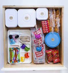 Organize your snack drawer!