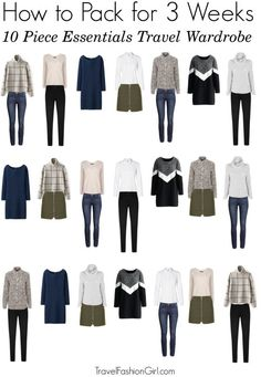 Capsule Wardrobe, Travel Wardrobe, Wardrobe Ideas, Winter Outfits, Winter Travel Outfit, Travel Outfits, Minimalist Packing, Vacation Packing, Travel Packing