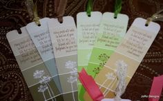 That's My Story....: Bookmark - paint chip style