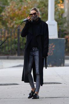 Olivia Palermo Street Style, Olivia Palermo Outfit, Estilo Olivia Palermo, Olivia Palermo Lookbook, Casual Street Style, Casual Chic, Olivia Palermo Winter Style, Winter Looks, Winter Coat Outfits