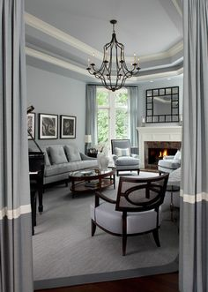 3 Innovative Clever Ideas: Livingroom Remodel Grey Walls living room remodel with fireplace window.Living Room Remodel With Fireplace Window living room remodel before and after crown moldings.Living Room Remodel With Fireplace Wall Colors. Living Room Remodel, Living Room Paint, Living Room Grey, Home And Living, Living Rooms, Living Place, Cozy Living, Small Living, Grey Interior Paint