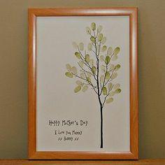 Fingerprint tree - brilliant Mother's Day idea.