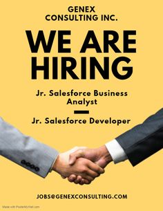 Hiring Jr. Salesforce Business Analyst & Jr. Salesforce Developer.  *OPT CANDIDATES ARE ENCOURAGED TO APPLY. *CANDIDATE MUST BE ELIGIBLE TO WORK ON W2 OF GENEX CONSULTING INC.  #GenexJobs #Genex #Consulting #Inc #Staffing #Salesforce #Developer #BusinessAnalyst #SFDC #Chicago #W2 #OPT #EAD Salesforce Developer, We Are Hiring, Business Analyst, Job Opening, Jr, Encouragement, Chicago, How To Apply