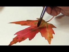 Painting a Autumn Leaf in Watercolor with Wet-in-Wet - YouTube
