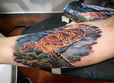 50 Stylish Turtle Tattoo Designs