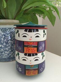 Japanese Kokeshi Containers