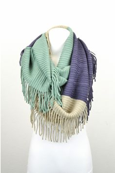 Multicolor fringe scarf...such a fun piece to pair with outfits! In store and online: http://8thstreetboutique.com/products/multicolor-fringe-scarf