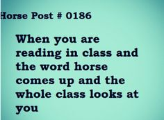 Yup, this happens all the time when something horsey comes up :)                                                                                                                                                                                 More