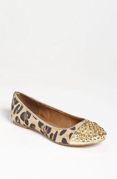 Studs + leopard Steve Madden 'Kimmmie' Flat.