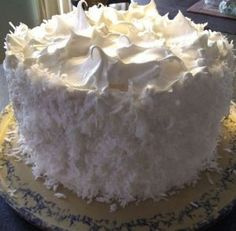 Coconut Cake with Seven-minute Frosting Coconut Cake Frosting, Frosting Recipes, Cake Recipes, Dessert Recipes, Quick Recipes, Coconut Cakes, Coconut Recipes, Cooking Recipes, Dessert Ideas
